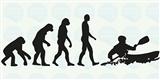 Naklejka na kajak - Ewolucja 25x12,5 cm